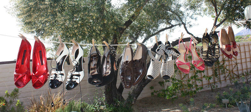 Wardrobe consultant Monica Negri gets playful with her Tucson clothesline. Photo courtesy of Monica Negri