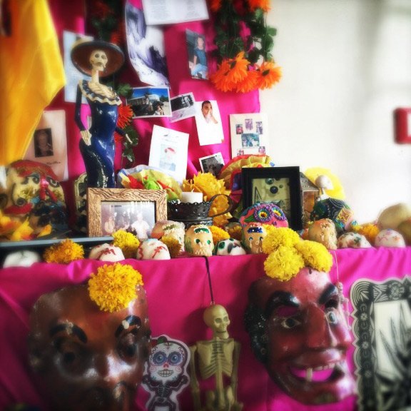 Marigold Day of the Dead Altar 2